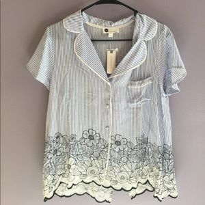 Anthropologie Floreat Floral Blouse